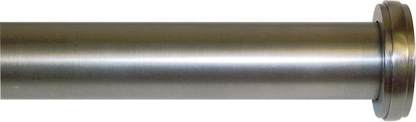 "Platinum End Caps Metal Rod Set  1.25 in. diameter <BR> Available in 12-21"", 26-48"" and 51-96"""