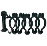 Unique Clip Rings for 1 3/8in.  Wood Pole or 1in. Metal Rod  Set of 7