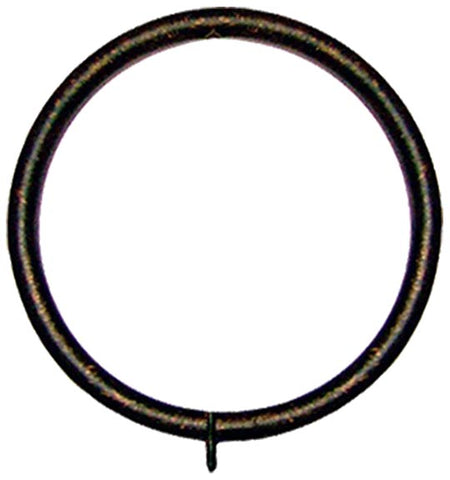 Metal Drapery Rings with Fixed Eyelet   for 2in. Diameter Pole <BR> Set of 7