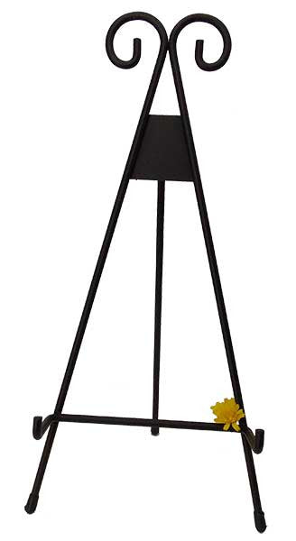 Metal Decorative Easel <BR> Available in 2 Sizes 12H x 6W x 6D and 15H x 7.5W x 7.5D