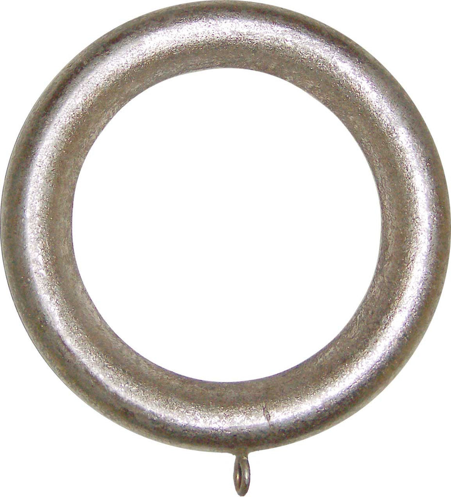 Wood Drapery Rings for 2in or 2 1/4in Pole <BR> Set of 4 in 8 Colors
