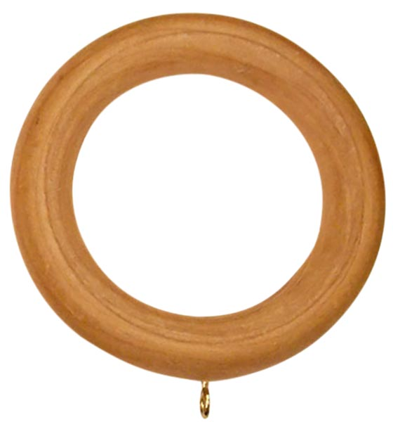 Unfinished Wood Heavy Duty Curtain Rings Set of 14 for  2in. - 2 1/4 in diameter poles