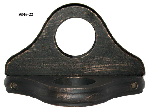 Wood Ceiling Mount Bracket for 2in or 2 1/4in Poles