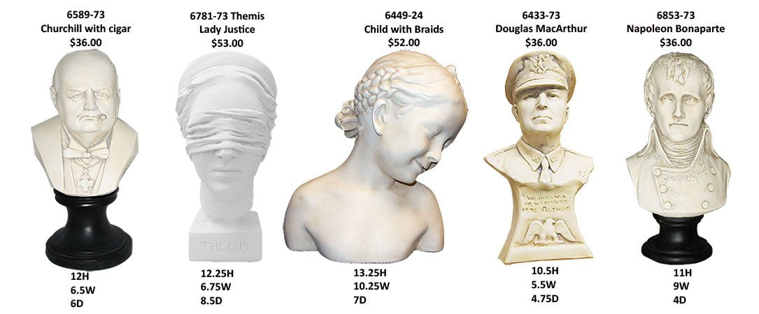 Sculptures and Statuary to grace your home.