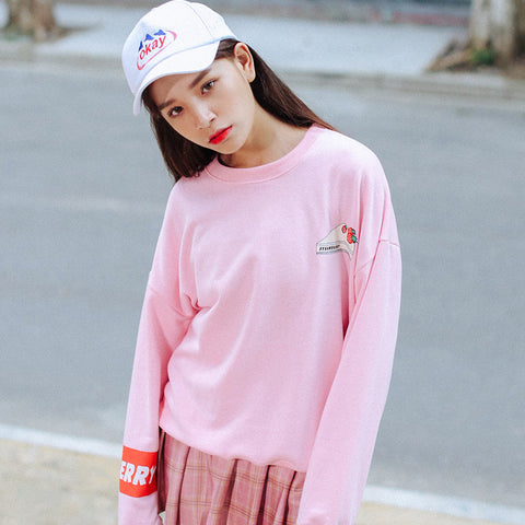 Strawberry Shortcake Pullover