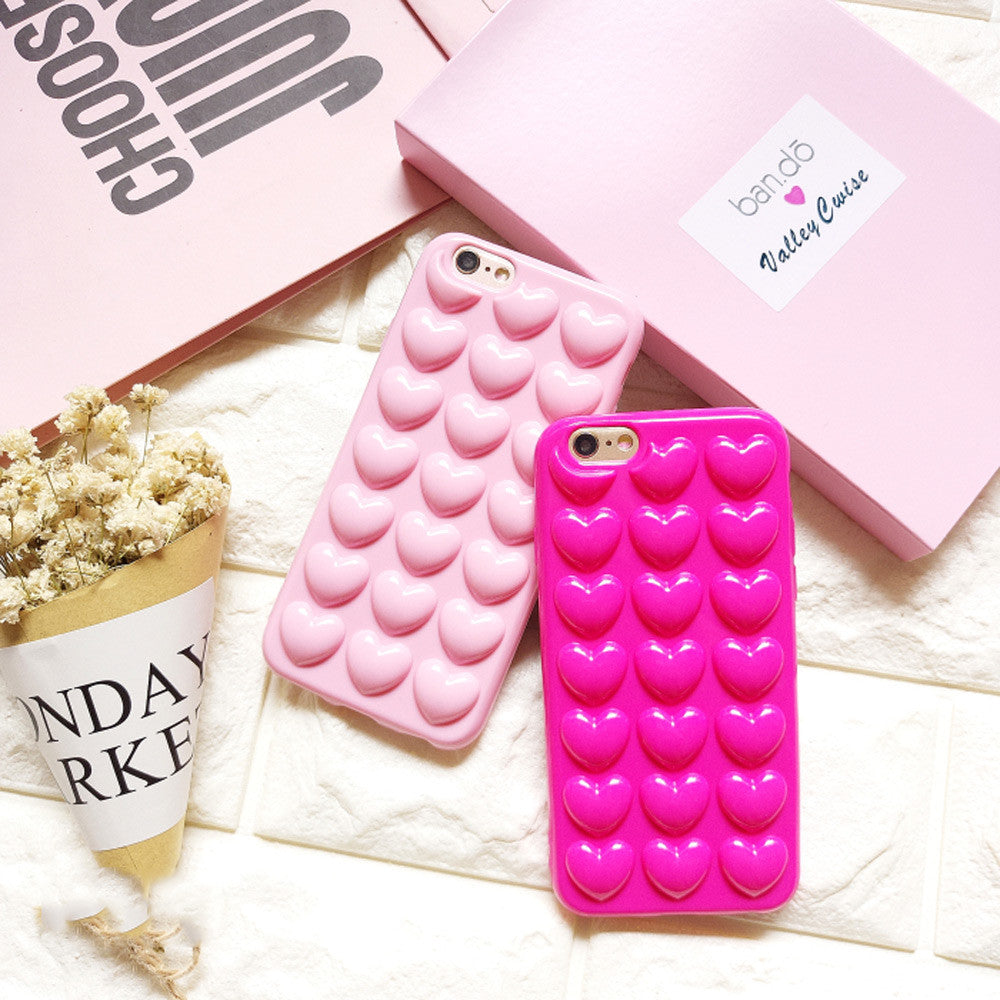 3D Heart Phone Case