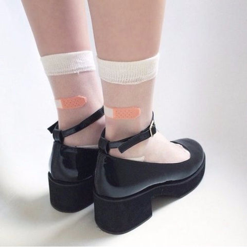 Transparent Bandaid Socks