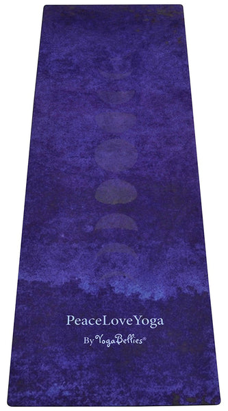 PeaceLoveYoga Mat by YogaBellies® - Luna - PeaceLoveYogaShop, YogaBellies, PeaceLoveYogaMat, PeaceLoveYogaBellies, Cherylyogabelle