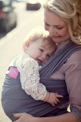 YogaBellies® UK Made Safety Certified Baby Sling Wrap - Slate - PeaceLoveYogaShop, YogaBellies, PeaceLoveYogaMat, PeaceLoveYogaBellies, Cherylyogabelle