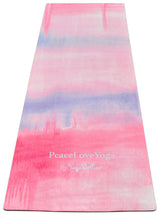PeaceLoveYoga Mat by YogaBellies®- Soma - PeaceLoveYogaShop, YogaBellies, PeaceLoveYogaMat, PeaceLoveYogaBellies, Cherylyogabelle