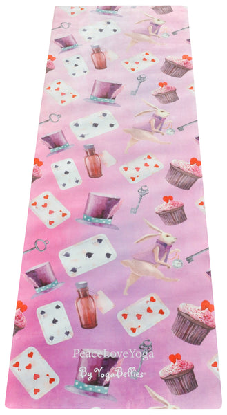 Wonderland - PeaceLoveYoga Mat by YogaBellies® - PeaceLoveYogaShop, YogaBellies, PeaceLoveYogaMat, PeaceLoveYogaBellies, Cherylyogabelle
