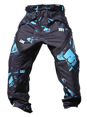 Laysick 411X Dayglo Blue professional paintball pants