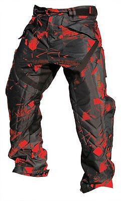 Laysick 411X Dayglo Red professional paintball pants