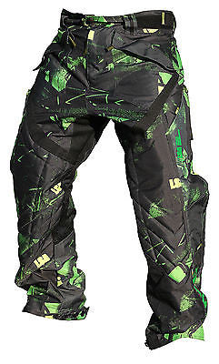 Laysick 411X Dayglo Green Professional Paintball Pants