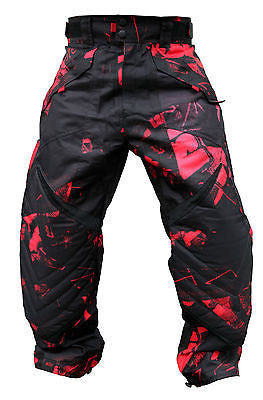 Laysick 411 XLite Paintball Pants Dayglo red
