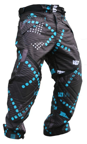 Laysick 411 Lite Pants Teal Stripe