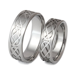 Irish Celtic Tradition Titanium Wedding Bands