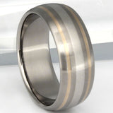 Gold and Platinum Titanium Wedding Band