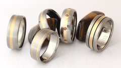 Gold Titanium Rings