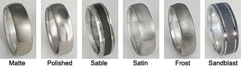 Titanium Ring Finishes