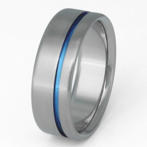 The Original Thin Blue Line Titanium Ring b2