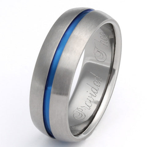 Thin Blue Line Ring - The Challenger - b22