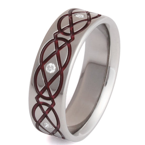 Titanium Irish Celtic Wedding Rings ck43