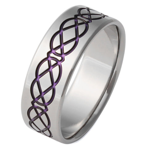 Purple Celtic Titanium Ring - ck1Purple