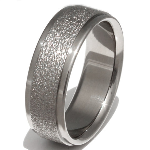 Sunshine - Frost Titanium Wedding Ring f2