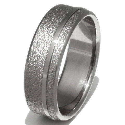 Opportunity - Frost Titanium Wedding Ring f8