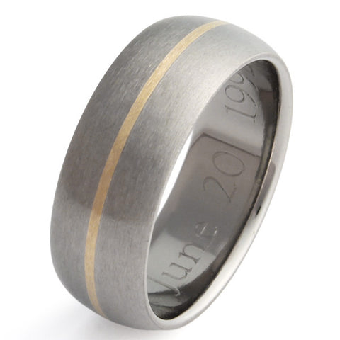 Gold Titanium Wedding Ring g4