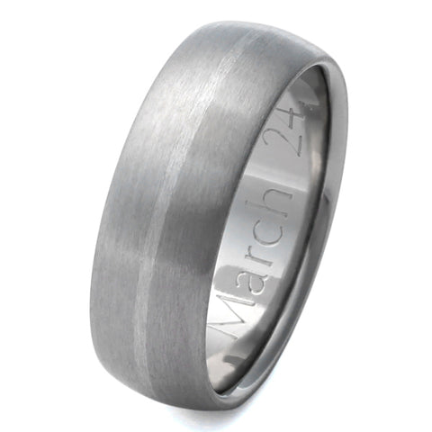 Platinum Titanium Wedding Ring p4