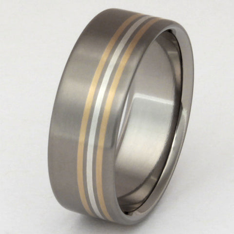 splendor two tone ring m5 Titanium Wedding and Engagement Rings