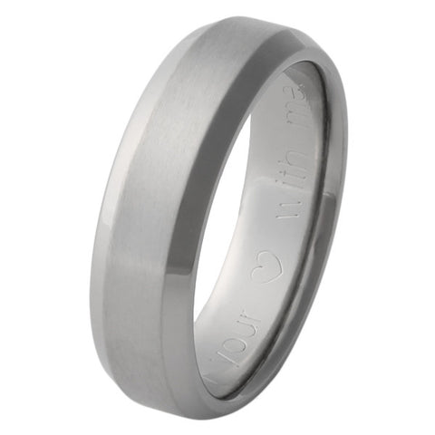 Titanium Wedding Band Edgy - n16