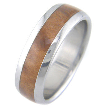 amboyna burl Titanium Wedding and Engagement Rings