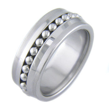 Boone Titanium Ring - Ball Bearings