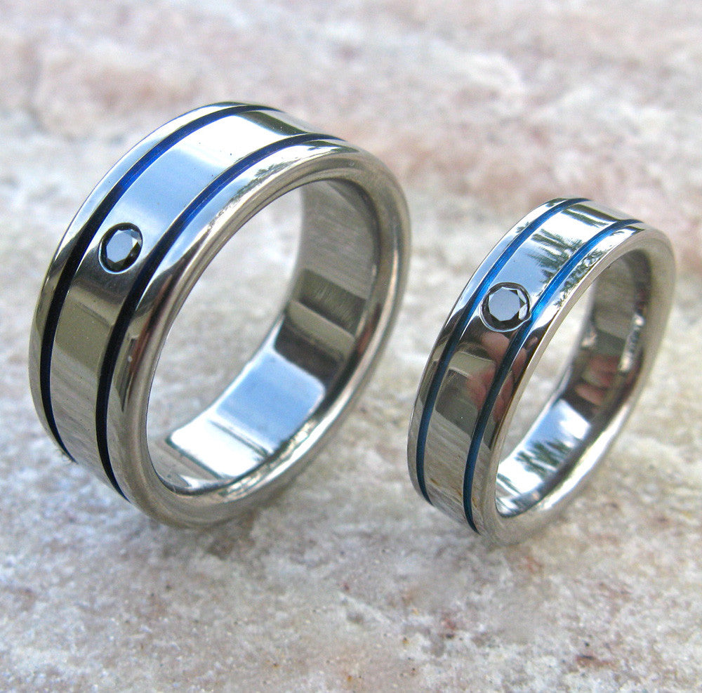 and meteorite with fiber wedding blue band image titanium ring besttohave jewellery rings inlay mens carbon