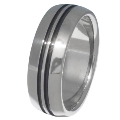black titanium rings bk1 Titanium Wedding and Engagement Rings