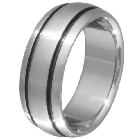 black titanium ring bk10 Titanium Wedding and Engagement Rings