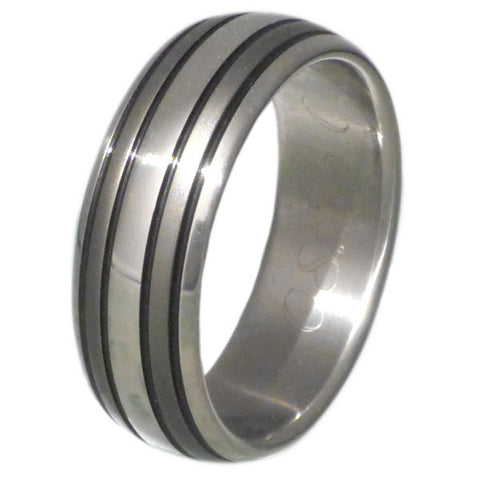 black titanium ring bk12 Titanium Wedding and Engagement Rings