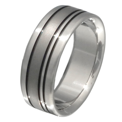 black titanium ring bk15 Titanium Wedding and Engagement Rings