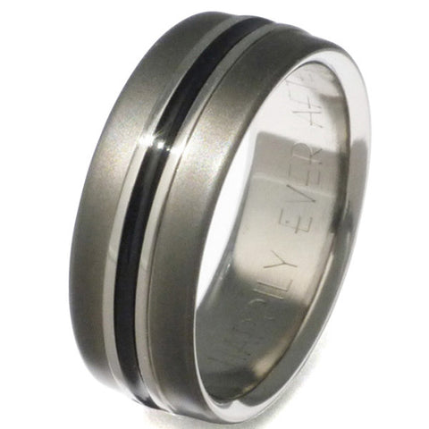 black titanium ring bk19 Titanium Wedding and Engagement Rings