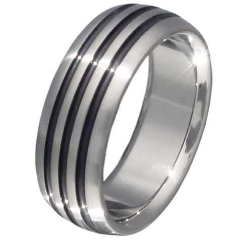 black titanium ring bk4 Titanium Wedding and Engagement Rings