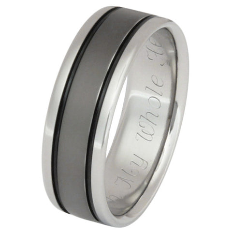 black titanium ring bk5 Titanium Wedding and Engagement Rings