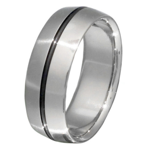 black titanium ring bk6 Titanium Wedding and Engagement Rings