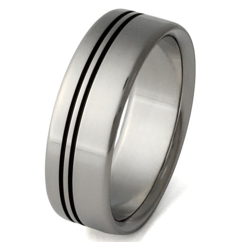 black titanium ring bk8 Titanium Wedding and Engagement Rings
