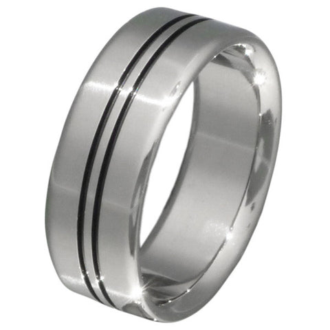 black titanium ring bk9 Titanium Wedding and Engagement Rings