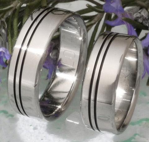matching black titanium wedding band set stbk8 Titanium Wedding and Engagement Rings