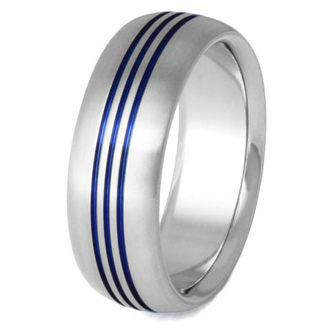 blue titanium ring b12 Titanium Wedding and Engagement Rings