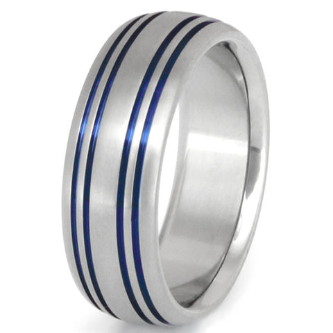 blue titanium promise ring b15 Titanium Wedding and Engagement Rings